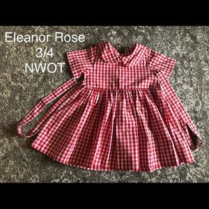 Eleanor Rose red and white gingham dress size 3/4